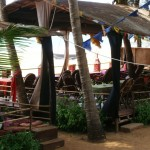 The Outdoor Restaurant at Simrose in Agonda Beach, Goa, India