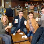 the Anti-Drug Agency at Starbucks: Lucia, Catalin, Luisa, and Dorel